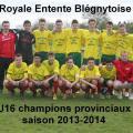 Blégny U16 champions