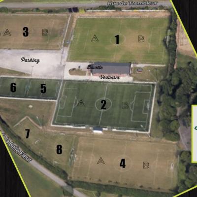 Vue aérienne de notre site R.E.B.